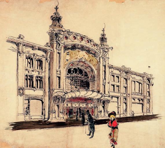 И. А. Иванов-Шиц «Проект Театра в доме Гирш («Студия» МХАТ Вс. Мейерхольда) в Москве. Главный фасад. Вариант» 1899