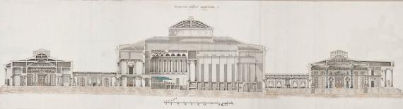 П. А. Бизяев «Останкинский дворец. Северный фасад. Фиксационный чертеж» До 1798
