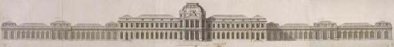 Жан-Батист-Александр Леблон «Дворец в Стрельне. Фасад к морю. Проект» 1717