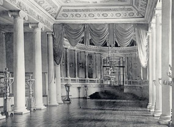 Зрительный зал театра. Дворец в усадьбе Останкино. Фото, 1950-е