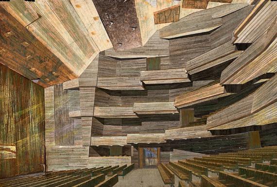 В. С. Кубасов «Проект нового здания МХАТа на Тверском бульваре в Москве. Зрительный зал» 1972–1973.
