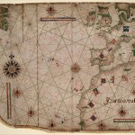 Карта-портулан Северной Атлантики. Около 1550 г. Лопу Омен.