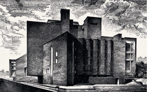 А. В. Анисимов «Вид Театра на Таганке в Москве» 1980-е