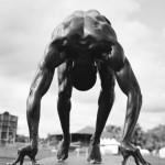 """Говард Шатц """"Shawn Crawford #1, sprinter"""" Photographed at the USA Nationals in Eugene, OR, June 2001"""