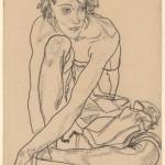 "Эгон Шиле ""Сидящая женщина"" 1918"