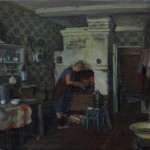 """Геннадий Проваторов """"У печки. Село Далёки (Женщина с ухватом)"""" 1996"""