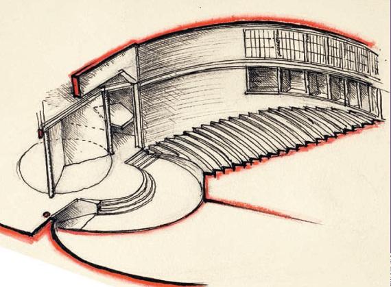 А. И. Гегелло, при участии Ф. П. Федосеева «Проект Театра юного зрителя в Ленинграде» 1933. Интерьер зрительного зала