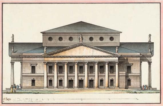 Дж. Кваренги «Проект Большого театра в Санкт-Петербурге. Главный фасад» 1811
