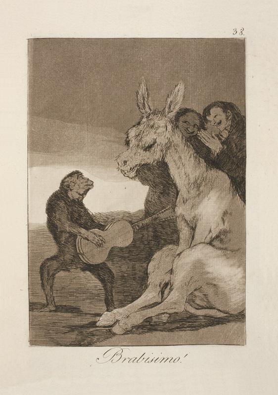 Франсиско Гойя «Брависсимо!» 1799