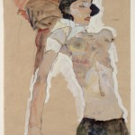 """Эгон Шиле """"Лежащая полуобнаженная девушка"""" 1911"""