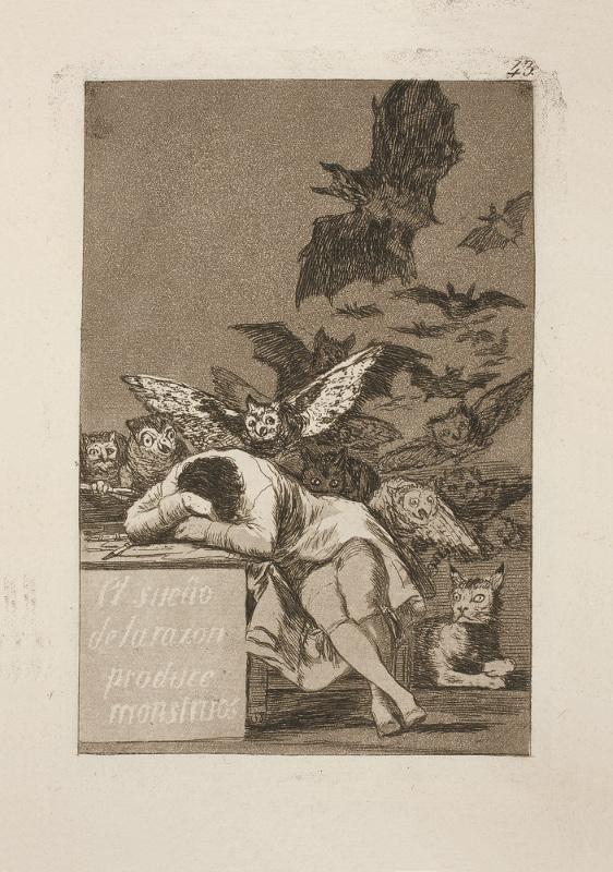 Франсиско Гойя «Сон разума рождает чудовищ» 1799