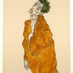 """Эгон Шиле """"Автопортрет в оранжевой куртке"""" 1913"""