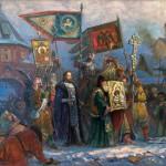 """Игорь Машков """"Великий вход царя Иоанна Грозного в покорённый Полоцк в 1563 году"""" 2010"""