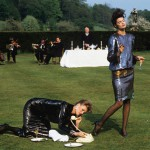 Денис Пил - Joan Severance_Nancy Donahue. Castle Howard. North Yorkshire. York, UK, 1982. Vogue