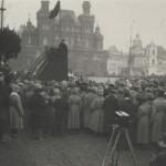Неизвестный автор. Председатель Совнаркома РСФСР В.И. Ленин произносит речь на Красной площади в день празднования первой годовщины Октябрьской Социалистической революции. 7 ноября 1918 г.