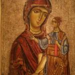 """Икона """"Богоматерь с Младенцем"""" Начало XIII века."""