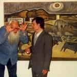 Леонид Талочкин и Лев Снегирев на выставке. Тверь, 1997