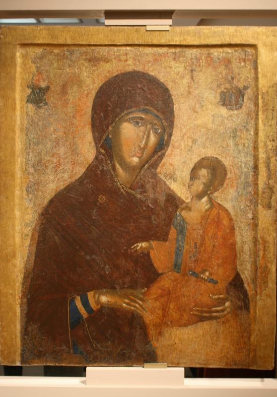 """Икона """"Богоматерь Одигитрия"""" XIV век."""