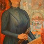 """Любовь Кулябко """"Автопортрет"""" 1980"""