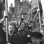 Евгений Умнов. Празднование Победы на Красной площади. 9 мая 1945 г.