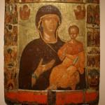 """Икона """"Богоматерь Одигитрия, с двунадесятыми праздниками"""" Вторая половина XIV века."""