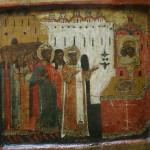 """Икона """"Собор Пресвятой Богородицы"""" Московская школа, 16 век."""