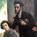 """Иегуда Пэн """"Слепой со скрипкой"""" 1926"""