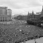Юрий Борисов. Митинг на Манежной площади. 24 августа 1991 г.
