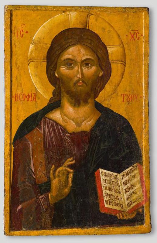 """Икона """"Христос Пантократор. Премудрость Божия"""" Конец XIV века."""