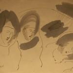 "Эдуард Штейнберг ""Женские образы"" 1964"