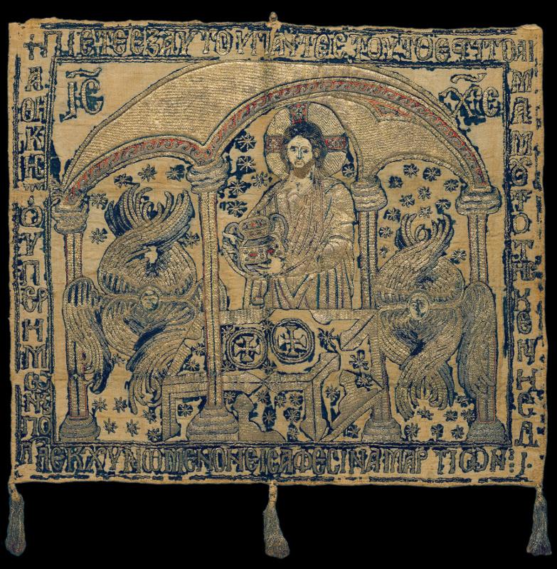 """""""Причащение апостолов (фрагмент композиции). Воздух"""" Конец XIII – начало XIV века."""