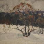 """И. Сорокин """"Оттепель. Зимой в лесу"""""""