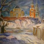 """А. Суровцев """"Голубой пейзаж. Торжок"""""""