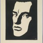 """Ю.Б.Могилевский """"Портрет В.В. Маяковского"""" 1959"""