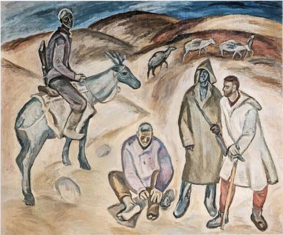 Павел Никонов «Геологи» 1962 Собрание Государственной Третьяковской галереи