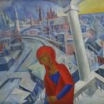 "Владимир Дмитриев ""Богоматерь на фоне Москвы"" 1920"