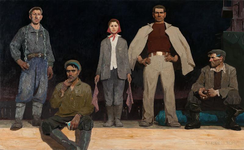 """В.Е.Попков """"Строители Братска"""" 1960–1961"""