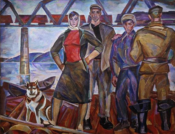 Николай Андронов «Плотогоны» 1960-1961 Собрание Государственной Третьяковской галереи