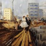 """Ю.И.Пименов """"Свадьба на завтрашней улице"""" 1962"""