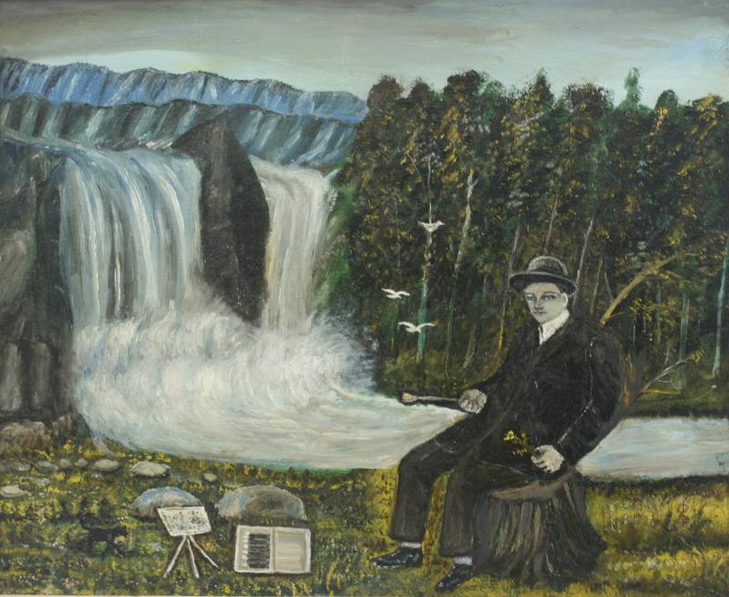 "Павел Леонов ""Автопортрет (У водопада)"" 1960-е"