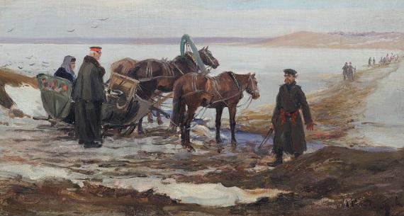"""Иван Владимиров """"Лед тронулся"""" 1910-е Собрание Владимира Руги"""