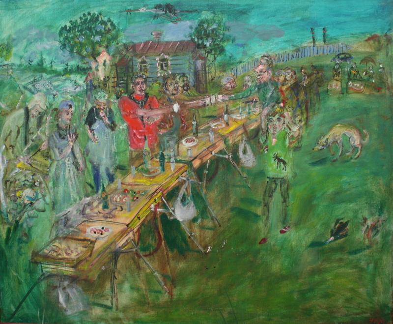 "Натта Конышева ""На этюдах"" 2008"
