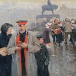 """Иван Владимиров """"На улицах Петрограда"""" 1918"""