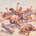 """Иван Владимиров """"Мордобой на пляже – культурное достижение по спорту!"""" 1930-е"""