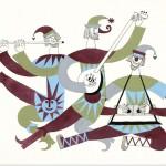 Варианты эскизов костюмов для Ансамбля народного танца Игоря Моисеева.