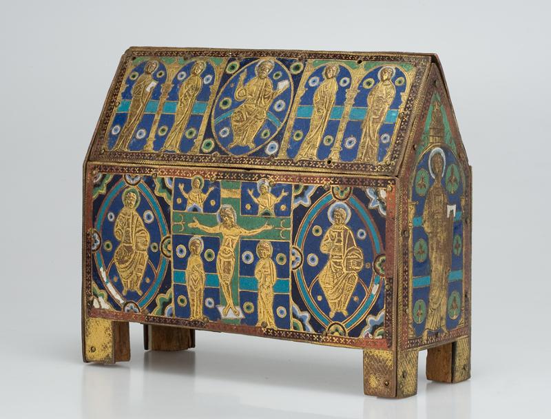 Ковчег с изображением Христа во славе, Распятия и святых