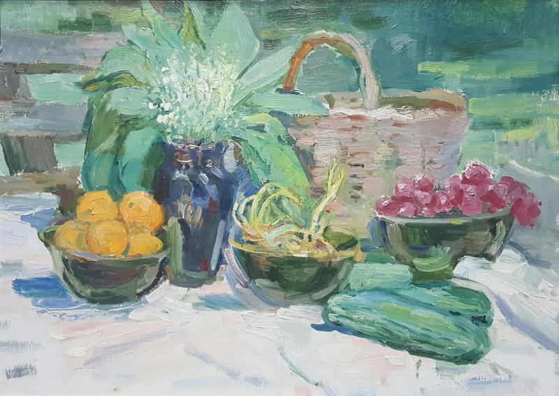 "Екатерина Зернова ""Натюрморт с овощами и ландышами"" 1970-е"