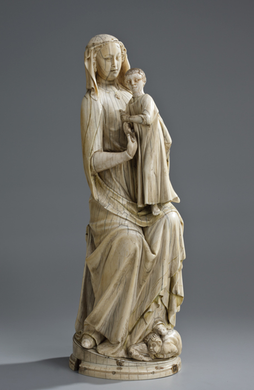 "Богоматерь с Младенцем"" Франция, конец XIII – начало XIV вв"