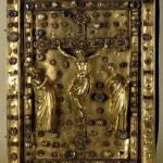 Нижняя крышка переплета Евангелия с изображением Распятия