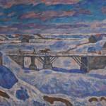 """Эдуард Браговский """"Мост. Старая Ладога"""" 2007"""